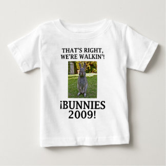 Camiseta De Bebé WalkinBunnies09