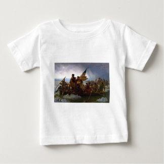 Camiseta De Bebé Washington que cruza arte del vintage del Delaware