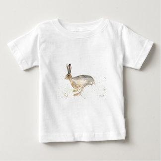 Camiseta De Bebé Watercolour corriente de las liebres