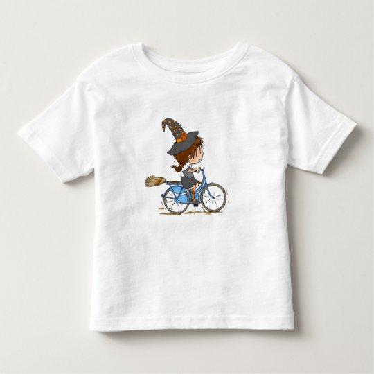 Camiseta De Bebé Witch in bike t-shirt