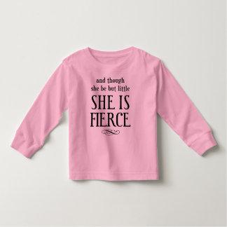 Camiseta De Bebé ¡Y aunque ella sea pero poco, ella es feroz!