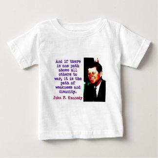 Camiseta De Bebé Y si hay una trayectoria - John Kennedy