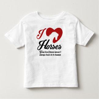 Camiseta De Bebé Yo ama/los caballos del corazón