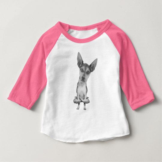 Camiseta De Bebé Yogi Doggie cute dog in yoga asana , cool funny