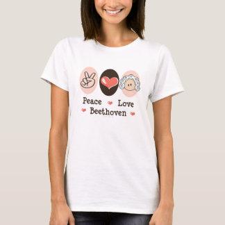Camiseta de Beethoven del amor de la paz