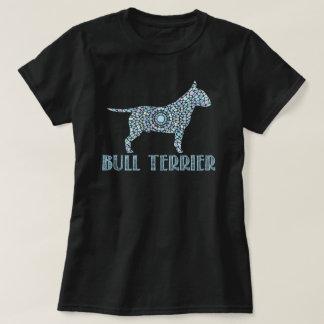 Camiseta de bull terrier de la mandala