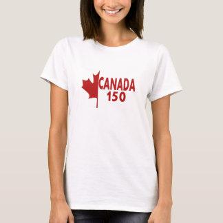 Camiseta de Canadá 150 de las mujeres (blanca en