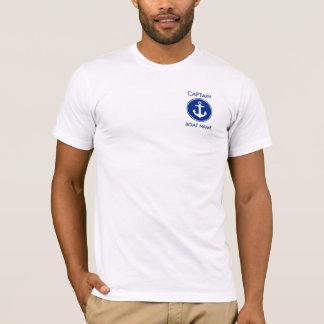 Camiseta de capitán Nautical Blue Anchor