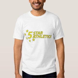 camiseta de cinco estrellas del atletismo