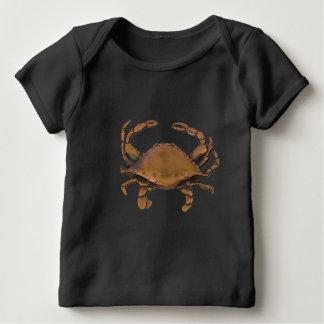 Camiseta de cobre del bebé del cangrejo