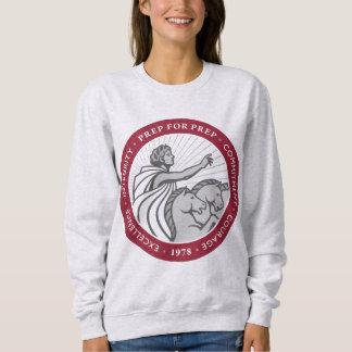 Camiseta de Crewneck del logotipo de las mujeres