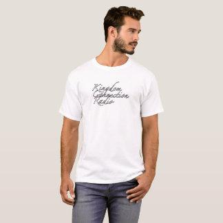 Camiseta de Cursivo de la radio de la conexión del