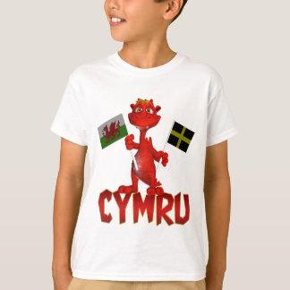 Camiseta de Cymru Galés, bandera Galés y la