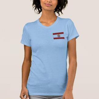 Camiseta de DK de la bandera y del mapa de