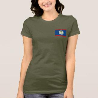 Camiseta de DK de la bandera y del mapa de Belice
