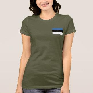 Camiseta de DK de la bandera y del mapa de Estonia