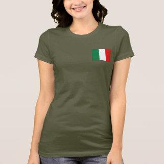 Camiseta de DK de la bandera y del mapa de Italia
