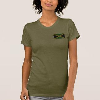Camiseta de DK de la bandera y del mapa de Jamaica