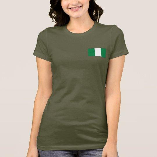 Camiseta de DK de la bandera y del mapa de Nigeria