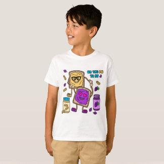 Camiseta de Emoji de la mantequilla y de la jalea