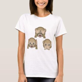 Camiseta de Emoji de tres monos