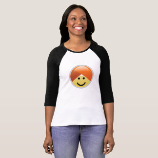 Camiseta de Emoji del turbante de la sonrisa de