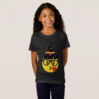 Camiseta de Emoji Halloween de la bruja para los