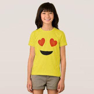 Camiseta de Emoji - ojos del corazón