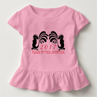 Camiseta de encargo 2017 de la niña pequeña del