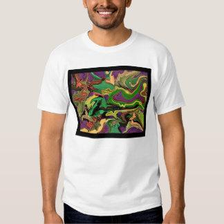 Camiseta de encargo colorida del arte psicodélico