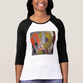 Camiseta de encargo del raglán de la manga de la