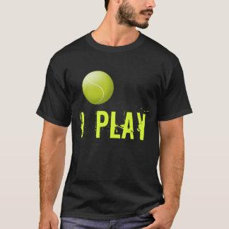 Camiseta de encargo del tenis. La pelota de tenis