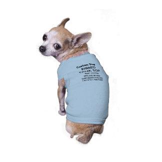 Camiseta de encargo S AZUL de las camisetas sin Camiseta Sin Mangas Para Perro
