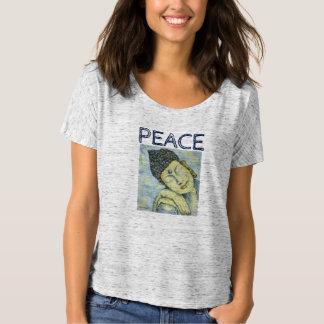 Camiseta de Flowy del arte de Buda de la paz