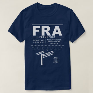 Camiseta de FRA del aeropuerto de Francfort