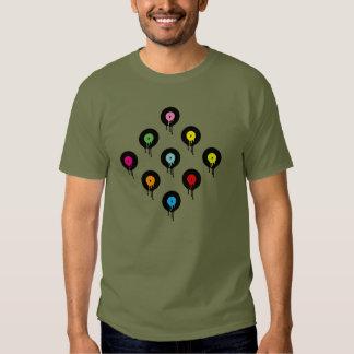Camiseta de fusión colorida del modelo de punto