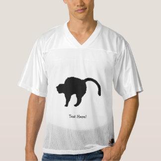Camiseta De Fútbol Americano Para Hombre silueta del gato