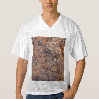Camiseta De Fútbol Americano Para Hombre textura de la piedra oxidada