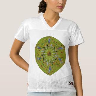 Camiseta De Fútbol Americano Para Mujer Mandala de Yaga del bizcocho borracho