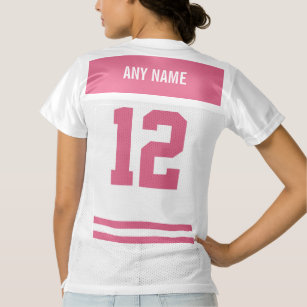 Camiseta De Fútbol Americano Para Mujer Se ruboriza el equipo de fútbol  personalizado d0dc47e4b9d2b