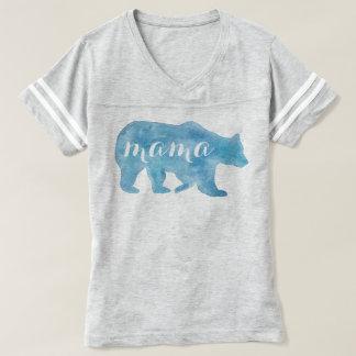 Camiseta de fútbol de mamá Bear Watercolor