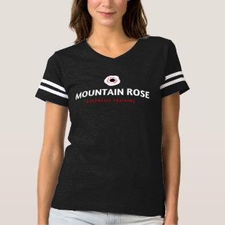 Camiseta de fútbol defensiva del rosa de montaña