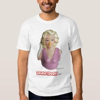 Camiseta de goma del pato de la celebridad de