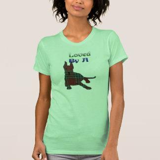 Camiseta de great dane de la tela escocesa