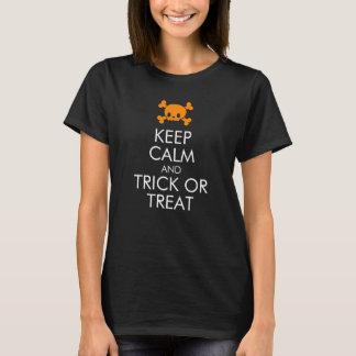 """Camiseta de Halloween: """"Guarde la calma y truco o"""