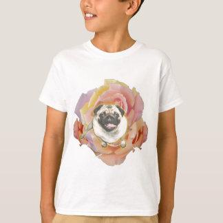 Camiseta de Hanes Tagless del niño de PugFlower