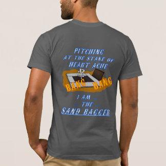 Camiseta de herradura americana básica del cabeceo