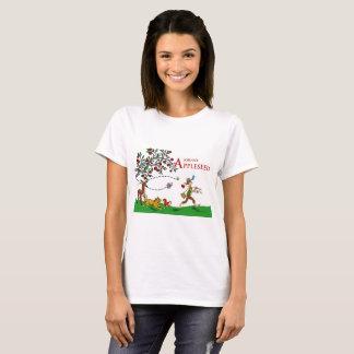 Camiseta de Johnny Appleseed, animales y manzano