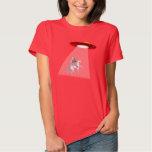 Camiseta de la abducción del UFO del unicornio de