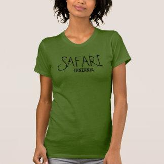 Camiseta de la aceituna de Tanzania del safari